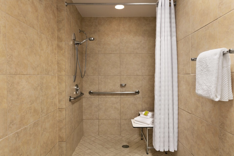 Accessible Bathroom - Roll In Shower - 1417911